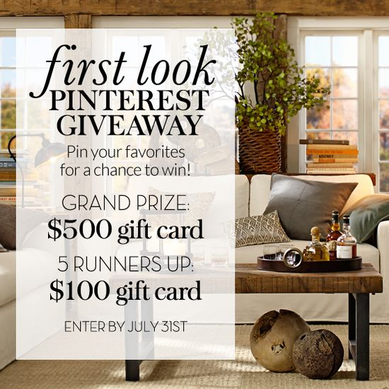 Pin your favorites for a chance to win and $500 gift card!
