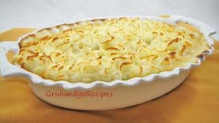 Creamy Chicken Parmesan Shepherd's Pie - GrabandgoRecipes.com Russian Home Cooking Recipes