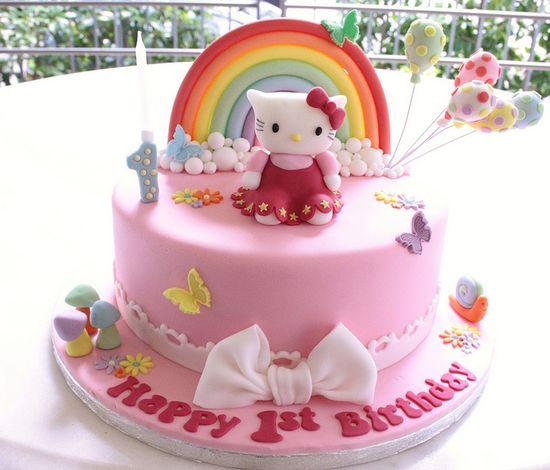 Hello Kitty Rainbow Cake, via Flickr.