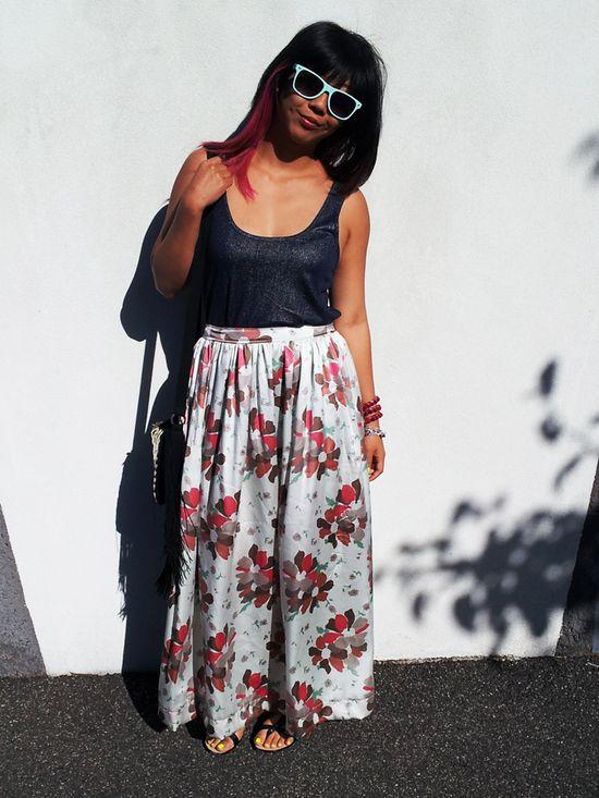 DIY: silk maxi skirt