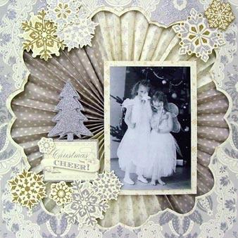 Anna Griffin scrapbook page