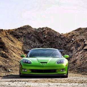 Mean green Corvette Machine In the mountains!WOW
