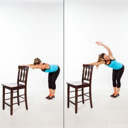The key to getting a flat stomach with this move is rotating both shoulders (not just lifting your arm and turning your head)