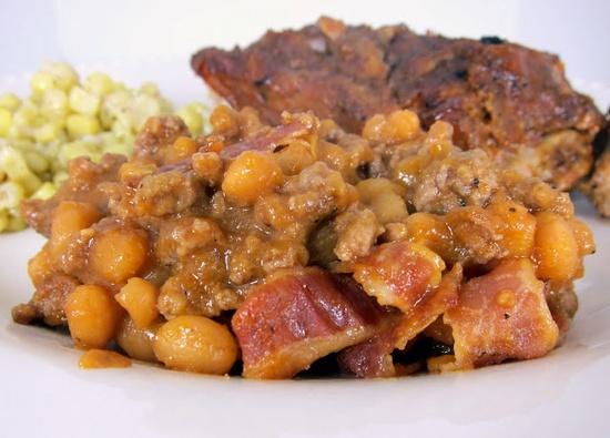 Ground Beef & Baked Bean Casserole
