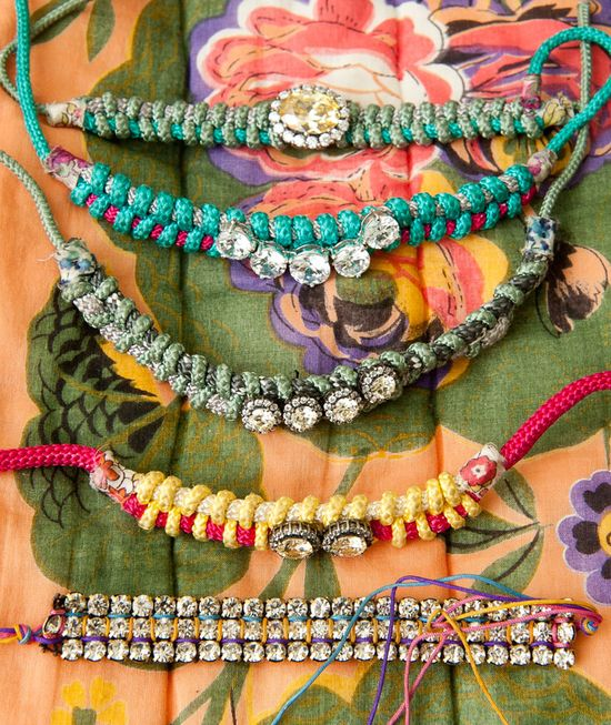 Some really fun braclets. DIY project perhaps?