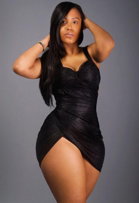 Beautiful plus size black woman