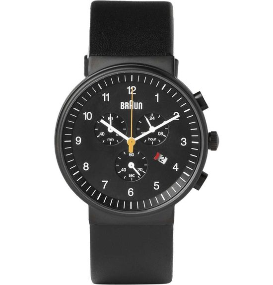 Braun x Dieter Rams BN0035 Stainless Steel Chronograph Watch #mens #watch #wantering #black