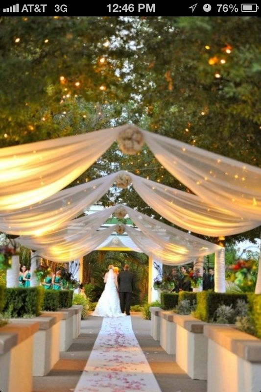 Love this for an outdoor wedding idea! So gorgeous :) I wonder if you could make it happen inside a church too