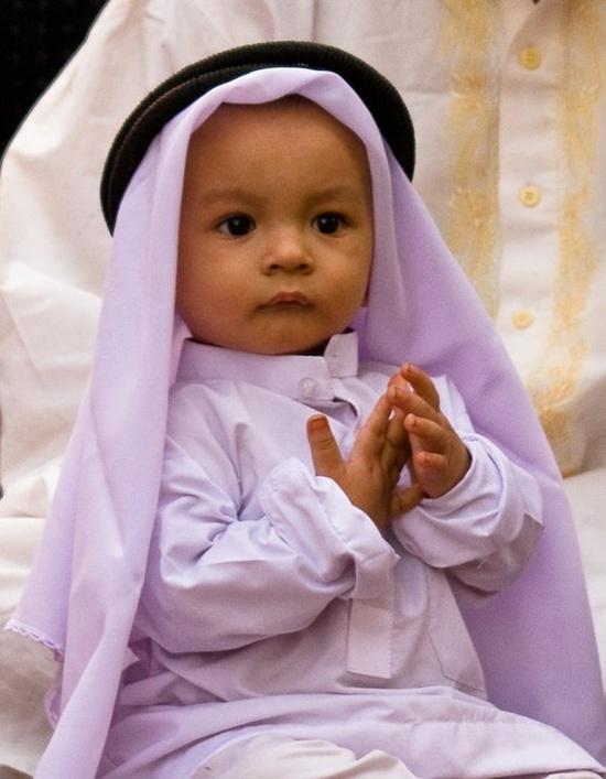Little Muslim boy
