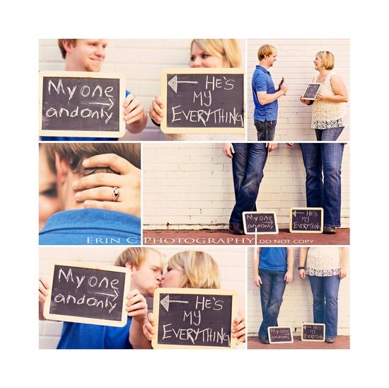 Chalkboard Engagement #engagement