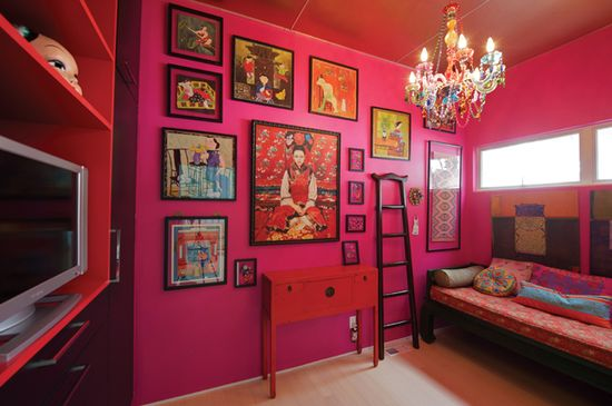 LOVE this pink room