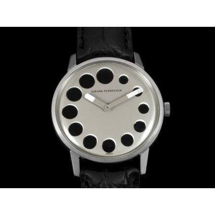 1960's Girard Perregaux Vintage Mens Watch - Stainless Steel - Retro Style