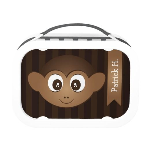 Custom Cute Kids Monkey Yubo Lunchbox
