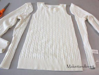 Make a girls' dress from an old sweater