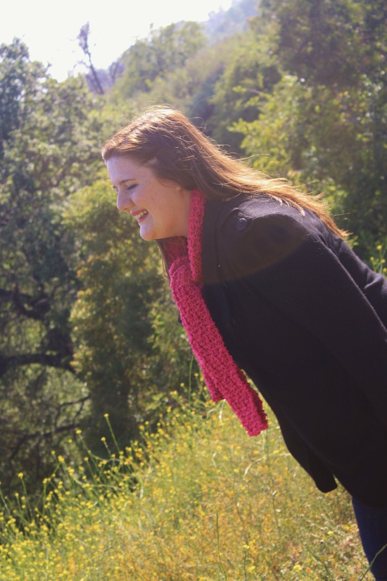 The CAB Scarf in Hot Pink. $15.00, via Etsy.