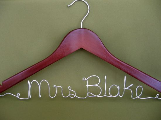 Wedding dress hanger. Great for pictures!