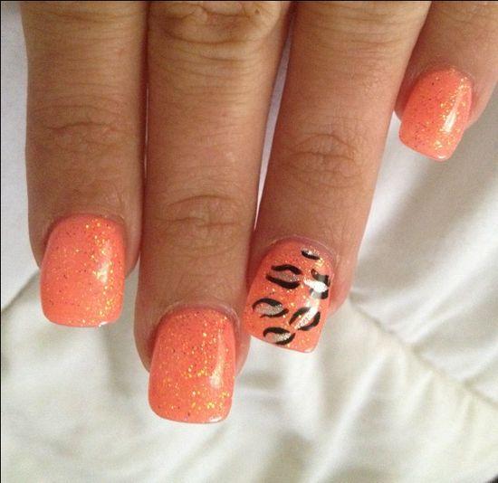 Orange crush nail design