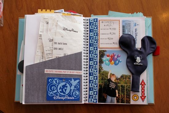 Disney Smash Book by Kathleen Taylor featuring Project Mouse by Britt-ish Designs and Sahlin Studio - Merchandise & Food