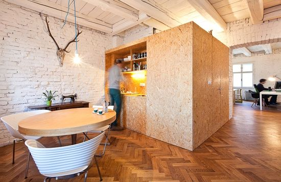 design office space Old Flat Converted Into Highly Creative Office Space in Bratislava
