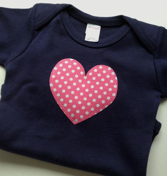 Valentines Day Baby Clothes // Girl Heart Bodysuit // by veryKIKI, $11.00