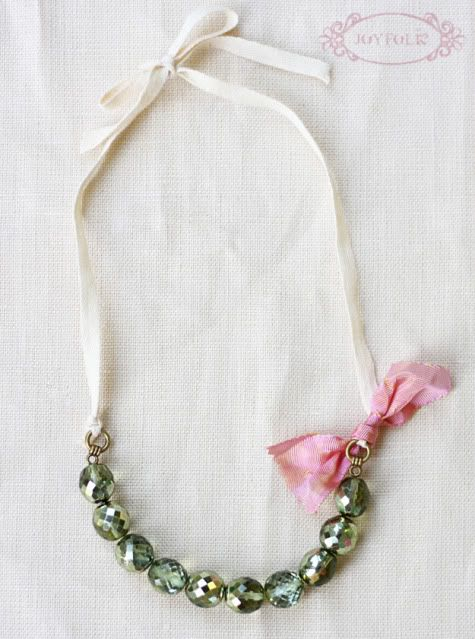 girls necklace - DIY