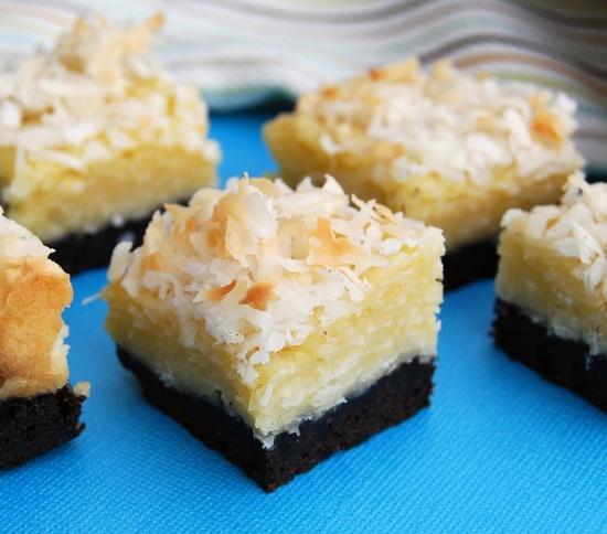 Black-Bottom Coconut Bars
