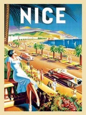 vintage Nice travel poster