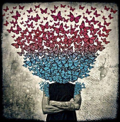 #urbanart, #butterflies, #mural