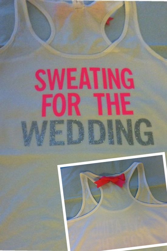 Sweating for the Wedding in PINK Workout Tank by RufflesWithLove, $24.00