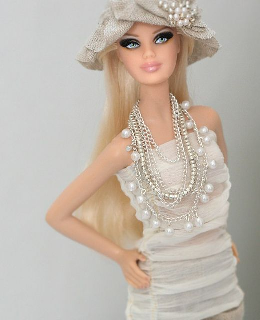 Barbie with pearls