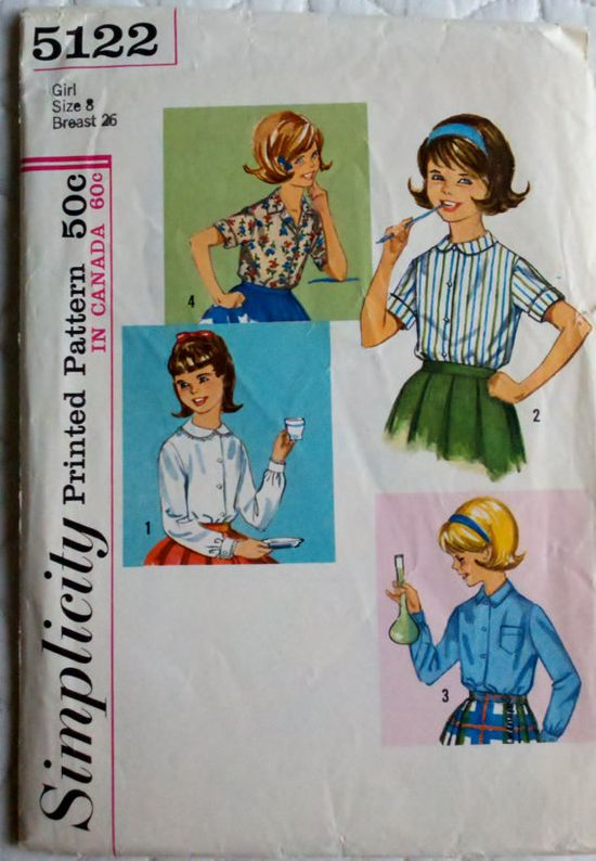 Girls' Blouses from the 60's