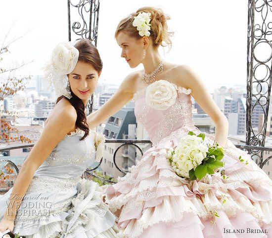 Island Bridal Color Wedding Dresses Collection
