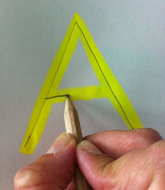 Highlighters to teach handwriting and cutting skills (better than dots or dashes)