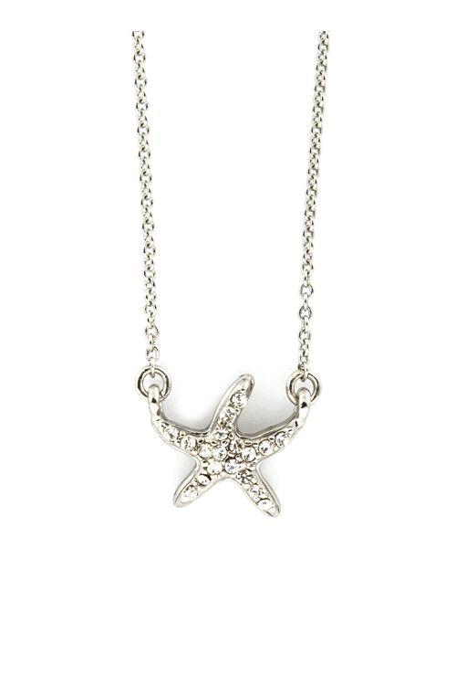 Tiny Crystal Starfish Pendant