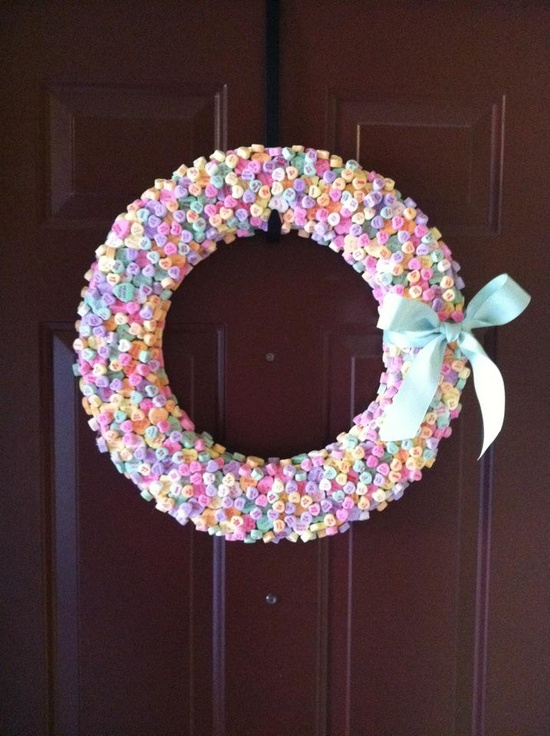 Candy Hearts Wreath