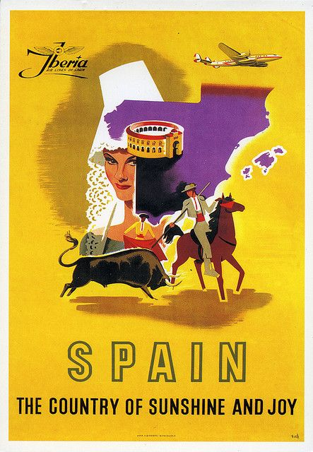 Spain - old travel poster