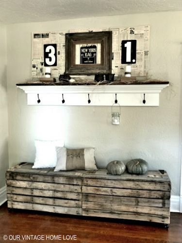 Cool rustic pallet bench