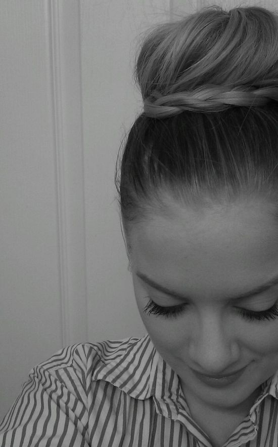 super cute braid bun