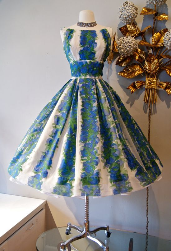 50s Dress // 50s Party Dress // Vintage 1950s by xtabayvintage, $248.00