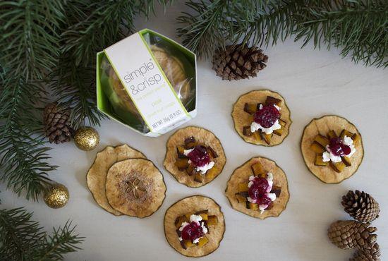 Perfect balance of savory & sweet: pear, chevre & butternut squash crisps