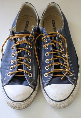 Chucks and boot laces...cool idea!