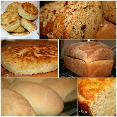 Bread Recipes - Rolls - Biscuits - Cornbread - Quick Breads - Breakfast - Dressing - Recipes Using Bread
