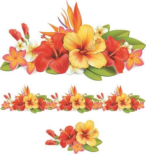 Beautiful flowers vector 02