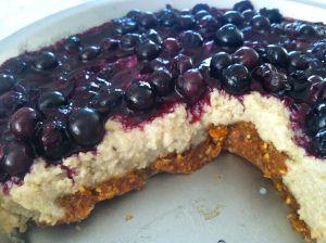Blueberry Cheesecake By Cavemen Gourmet Vegan...no cheese, no dairy, no cake.