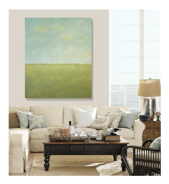 "Gallery Size ""Green Pasture"" Original Abstract Painting - large modern art, canvas, abstract expressionism, fine art PARKER WESTWOOD. $475.00, via Etsy."