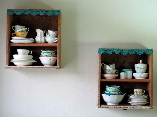 dresser drawers to cute kitchen decor