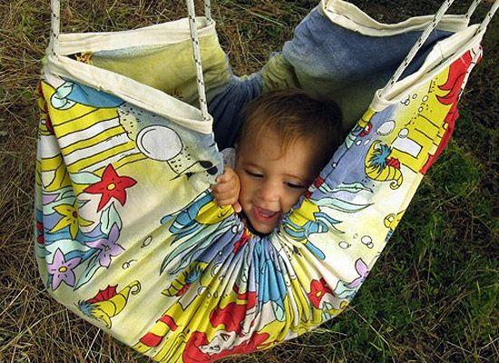 Kid's Hammock by ZaZaHammocks tinyurl.com/6tckcml  #Hammock #Kids #ZaZaHammocks
