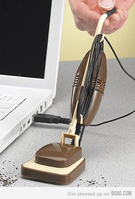 USB Vacuum Cleaner...how cute haha