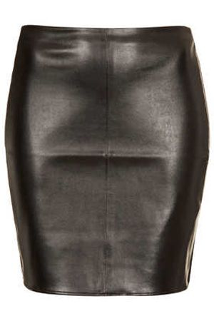 a leather skirt is a fashion must-have for fall