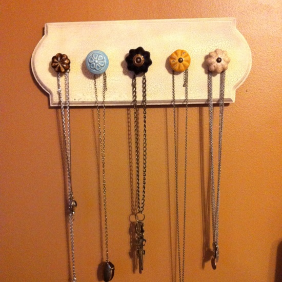 Hand made necklace holder